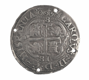 Moneda española de 8 reales, 1681