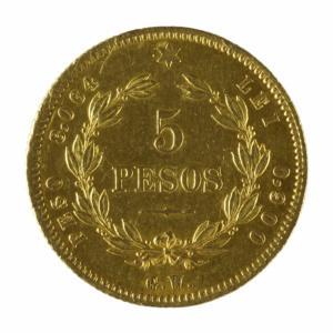 Moneda de 5 pesos, 1873
