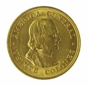 Moneda de 20 colones, 1900